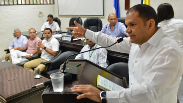 Sesión del Concejo Municipal de Valledupar con Alfareros