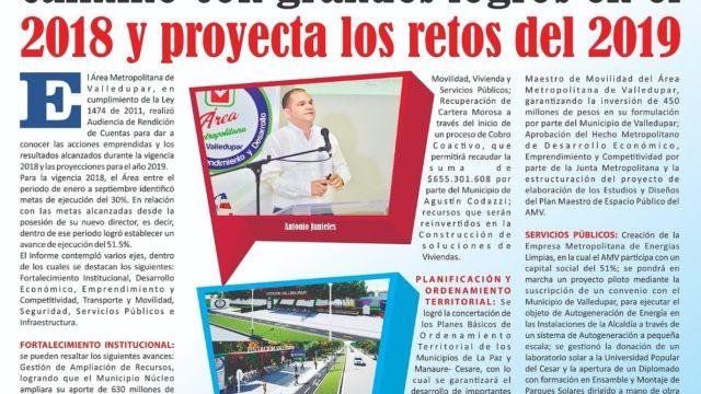 Medios de Comunicación Regional reconocen gestión delÁrea Metropolitana de Valledupar