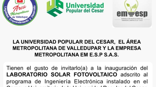 Inauguración del Primer y Único Laboratorio de Energía Solar Fotovoltaica