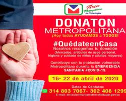 Área Metropolitana inició la Donatón Metropolitana