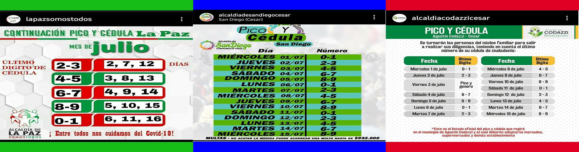 Pico y Cédula Julio