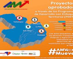 Área Metropolitana recibe con beneplácito adjudicación de 10 proyectos por parte de los PDET, para los cinco municipios que la conforman